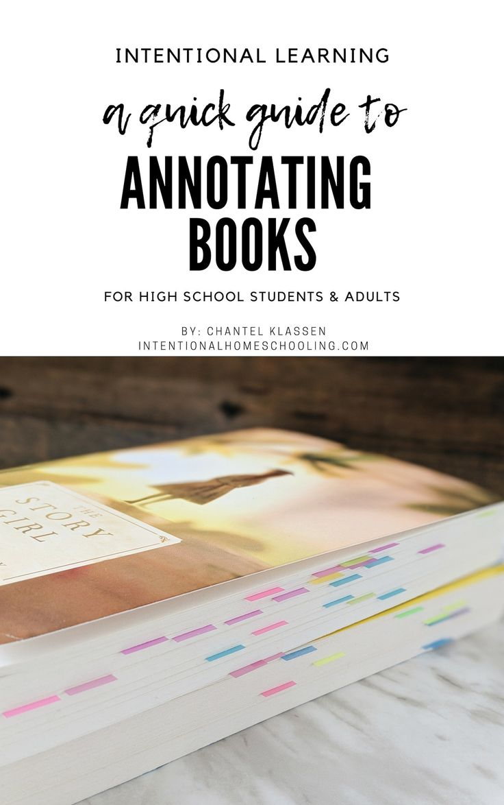 A Quick Guide to Annotating Books School stress, High