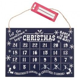Chalkboard Advent Calender, supplied with chalk to ensure your children can really be involved in counting down for Christmas!