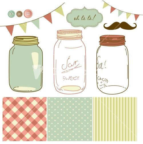 Glass Jars Stock Image
