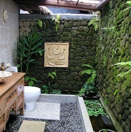 Outdoor Bathrooms And Indoor Gardens... THIS IS AMAZINGGGGGGGGGGG
