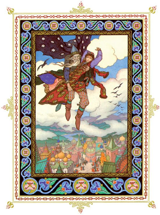 Сказочный художник Борис Васильевич Зворыкин Иллюстрация к сказке «Марья - Моревна»