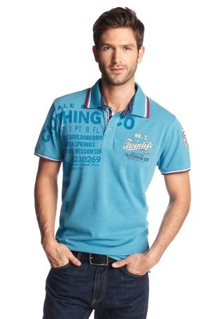 Twinlife Poloshirt Aus hochwertiger Baumwolle Lässiger Casual Stil Polokragen Basic Fit/Normal weite Passform