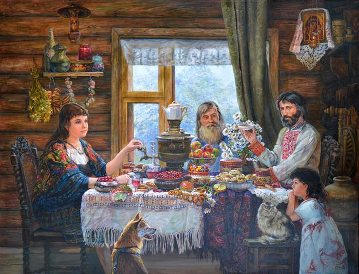 Эдуард Панов. (1948). Русская изба