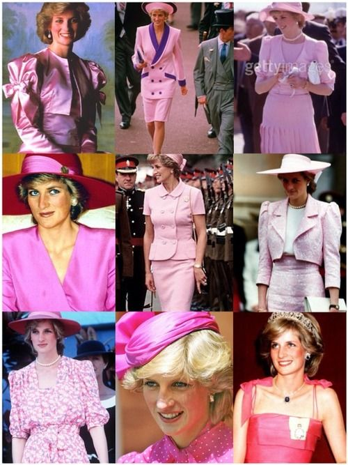 Princess Diana in Pink.