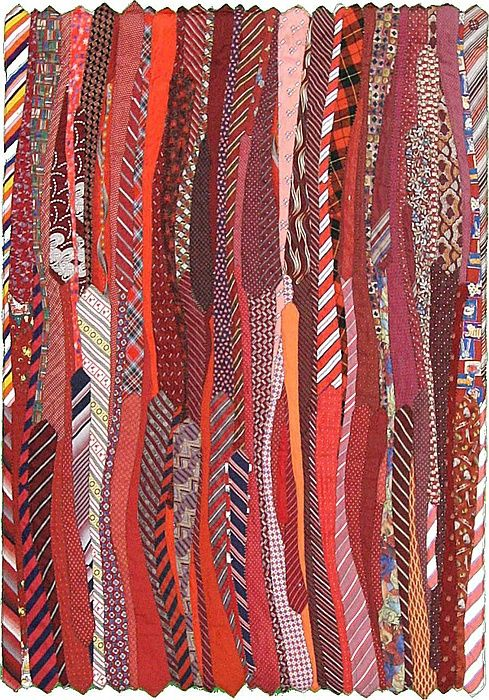 A rug made of recycled neck ties - this website is too great!