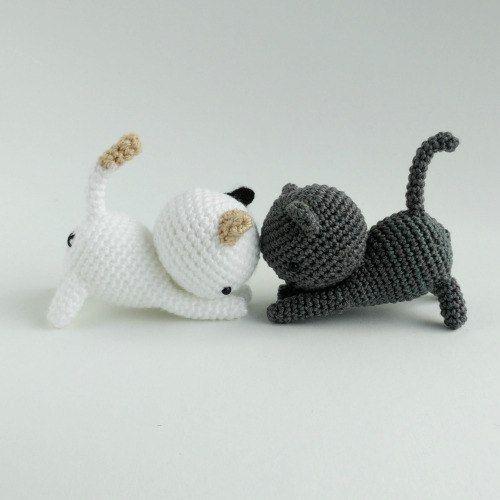 Gatito amigurumi crochet de esquema de Neko Atsume