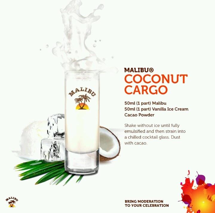 Malibu Rum Drink  coconut crgo.yummm