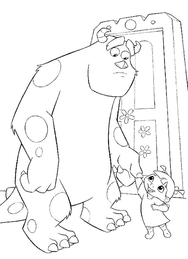 Sulley And Boo Coloring Pages - Monster Inc Coloring Pages : KidsDrawing – Free Coloring Pages Online