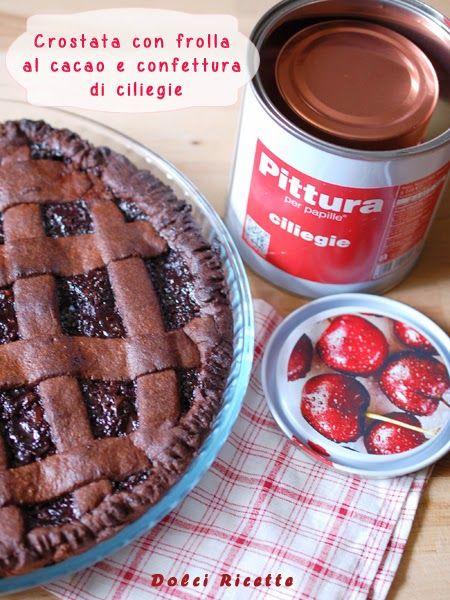 #Tart with chocolate pastry and cherry jam - #Crostata con frolla al cacao e confettura di ciliegie