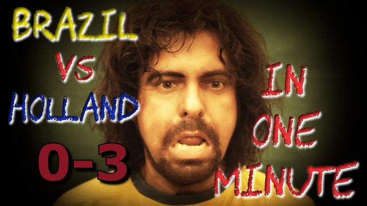 Brazil vs. Netherlands 0-3 in one minute #timelapse #worldcup2014 #parody #funny