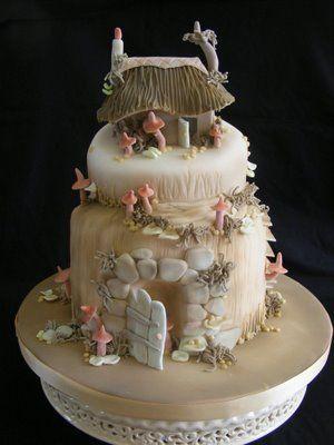 Hobbit house cake for her wedding!