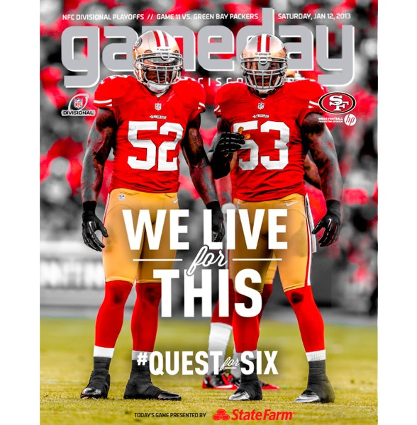 """Patrick Willis & NaVorro Bowman - """"We live for this"""" #49ers #QuestforSix - http://blog.49ers.com/2013/01/14/gameday-story-we-live-for-this/"""