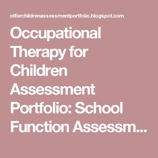 The 25+ best Occupational therapy assessment ideas on Pinterest - physical therapy evaluation