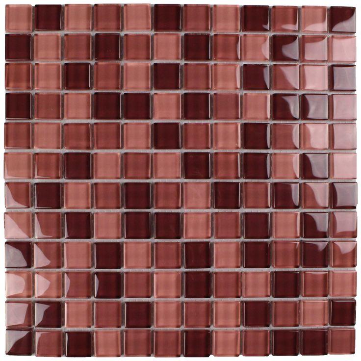 Glasmosaik Rot Mix SDA Dark Lila 30 X 30 Cm