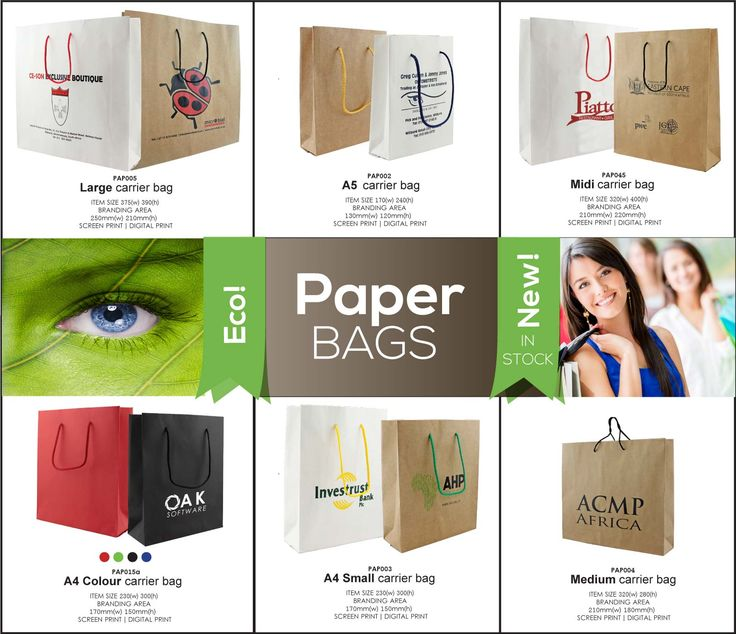 Branded paper bags for quick packaging