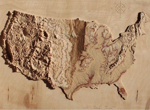 Best Topographic Map Ideas On Pinterest Desktop Calendars - 3d us map elevation