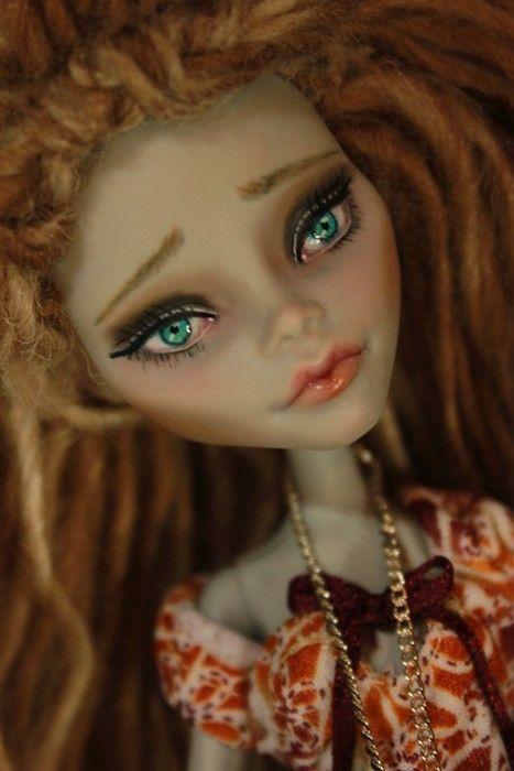 Bell Bottom Girl Monster High OOAK Hippy Boho Bohemian New Ghoulia Doll Repaint | eBay