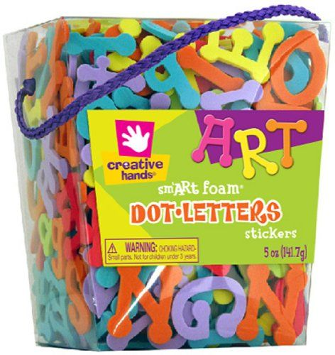 fibre craft foam stickers 5 ounce dot letters listing price 1099