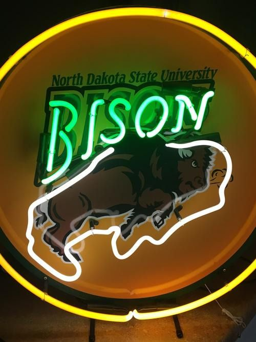 Ndsu Bison Neon Sign Moorhead Mn Ndsu Bison Bison