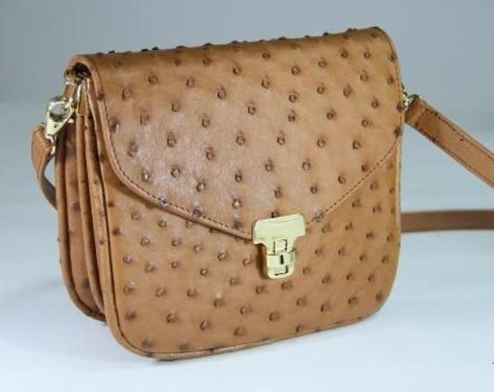 Beautiful Ostrich Leather Handbag Lovely To Have And Also Amongst