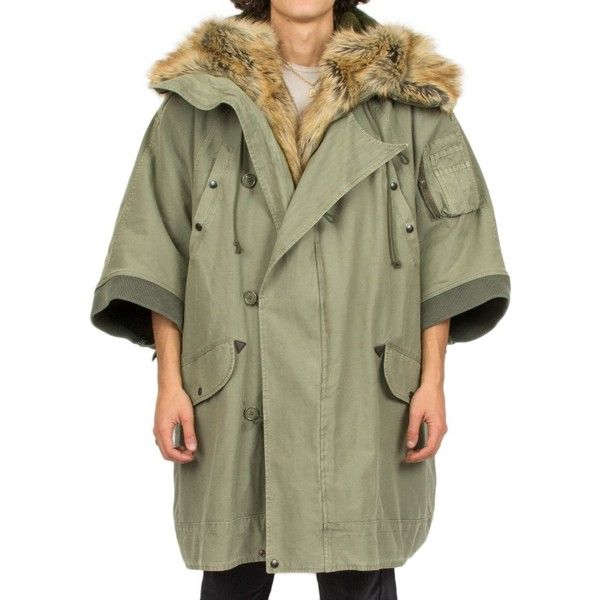 Faith Connexion Hoodie Parka Coat (6,625 SAR) ❤ liked on Polyvore featuring men's fashion, men's clothing, men's outerwear, men's coats, verde, mens parka coats and mens leopard print coat