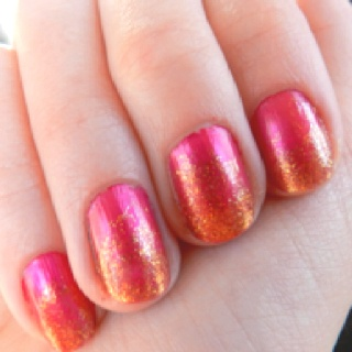 My pink and gold nails!