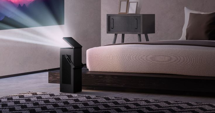 LG's tiny 4K projector puts a 150-inch screen in any room