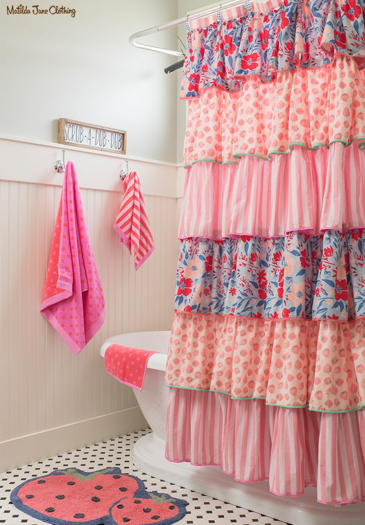 Camp MJC Spring 2018 Squeaky Clean Bath Curtain This Fantastic Is Full Of Ruffles And Frills Fun R