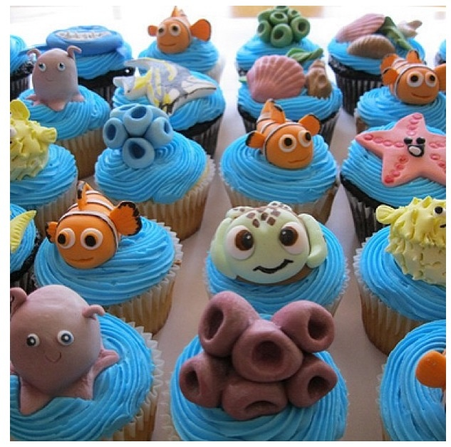 Finding nemo cup cakes