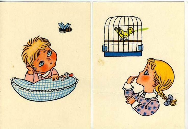 2 Vintage POSTCARDS Helena ZMATLIKOVA Children CZECH Bird BEE  cute COLLECTIBLE! uk.picclick.com