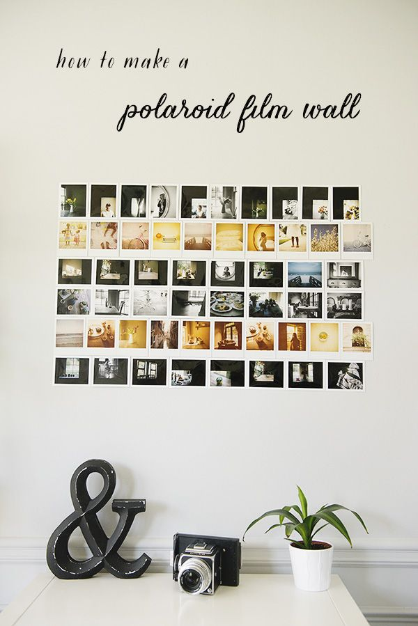 how to make a polaroid film photo wall - the sweet light