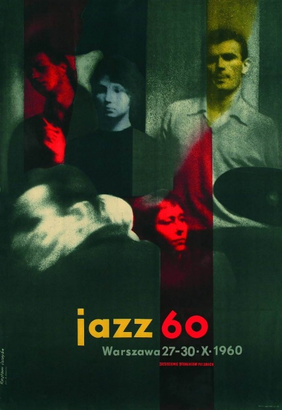 'Jazz 60: Warszawa 27-30.X.1960' poster by Polish painter & graphic designer Rosław Szaybo (b.1933). via News O.pl