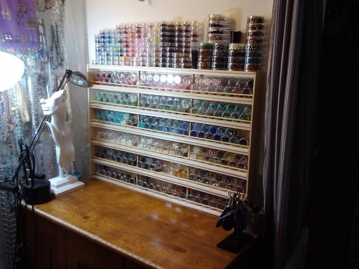 Madam Ravenu0027s Designs Bead Rack 400 jars (180 mini jars 220 large jars · Bead OrganizationBead StorageCraft ... & 197 best bead storage gyöngy rendszesrezés images by Kis Tímea on ...