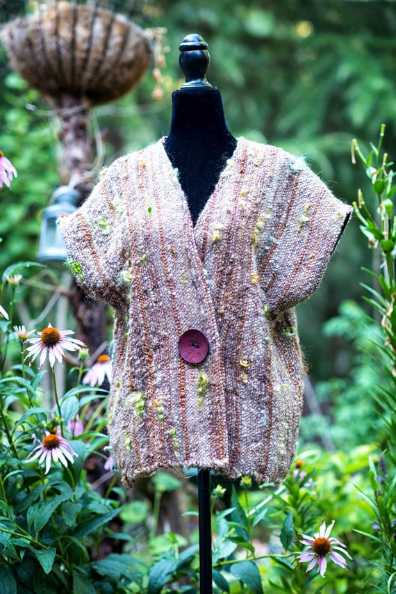 Hand Woven Vest by WeaverSpider on Etsy