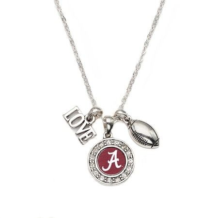 Love Alabama Football Necklace - a sterling silver necklace