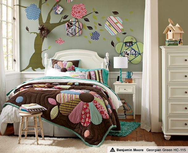 funky bedding white bedroom furniture for girls pbteen nice wall color - Funky Bedroom Design
