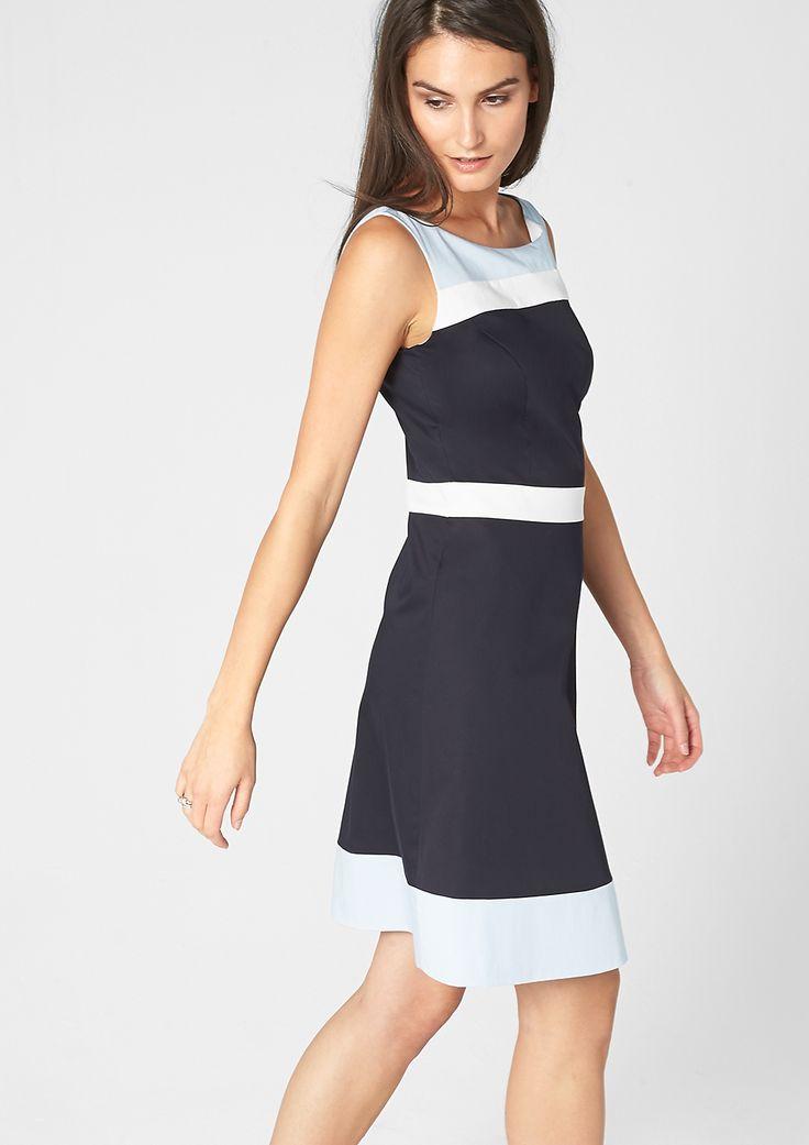 Satin-Kleid mit Farbakzenten von s.Oliver