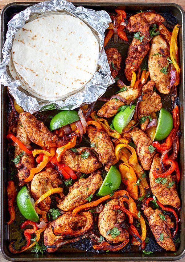 Sheet Pan Chicken Fajitas By No 2 Pencil Resep Resep Makanan Resep Makanan Pembuka Makanan
