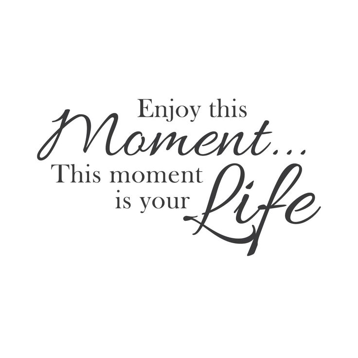 Wall Quotes Wall Decals - Enjoy the Moment- saying for canvas