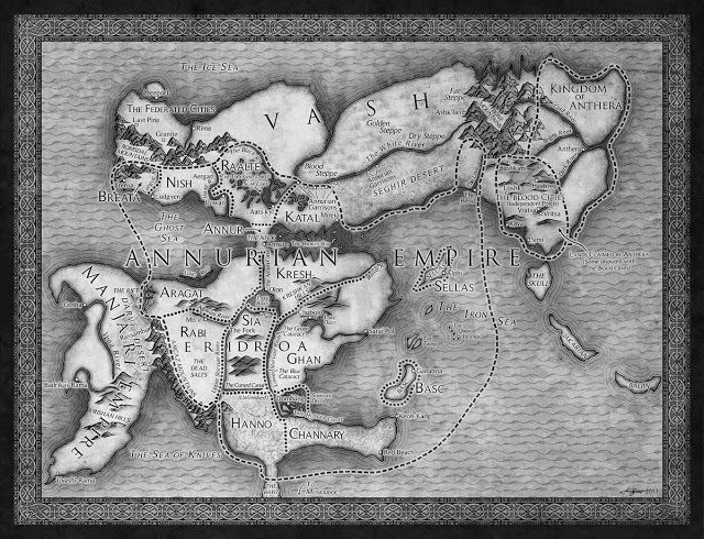 a Fantasy Reader: New map - Staveley's The Emperor's Blade