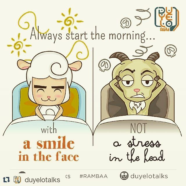 #Repost @duyelotalks with @repostapp  Always start each morning with a smile in the face not stress in the head.  #Rambaa #DuyeloTalks #Duyelo #qotd #quoteoftheday #quote #kutipan #katabijak #motivationalquote #motivation #motivasi #inspiration #inspirationalquote #inspirasi #pagi by Ed Zimbardi http://edzimbardi.com