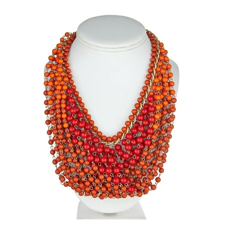Rachelle Necklace in Orange.  This would be gorgeous in blues, greens and purples, too :)