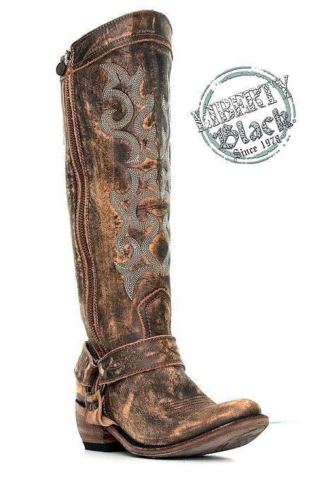 #libertyblackboots http://www.rockytopleather.com/products/liberty-black-vintage-carmela-distressed-brown-zippered-boot.html