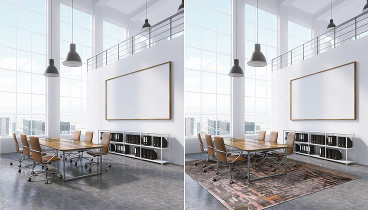 Make your choice! Carpets add attitude, style and warmth to a corporate space.