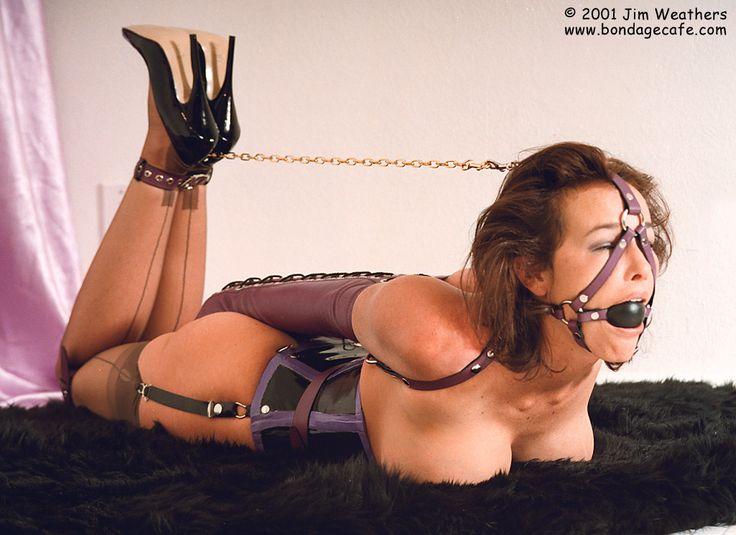 Hogtied bondage corset