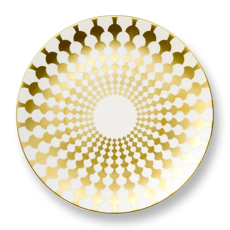 Gold Zelda Bone China Charger Plate