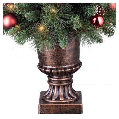 4ft Prelit Artificial Christmas Tree Potted Decorated Pine Clear Lights - Wondershop, Green