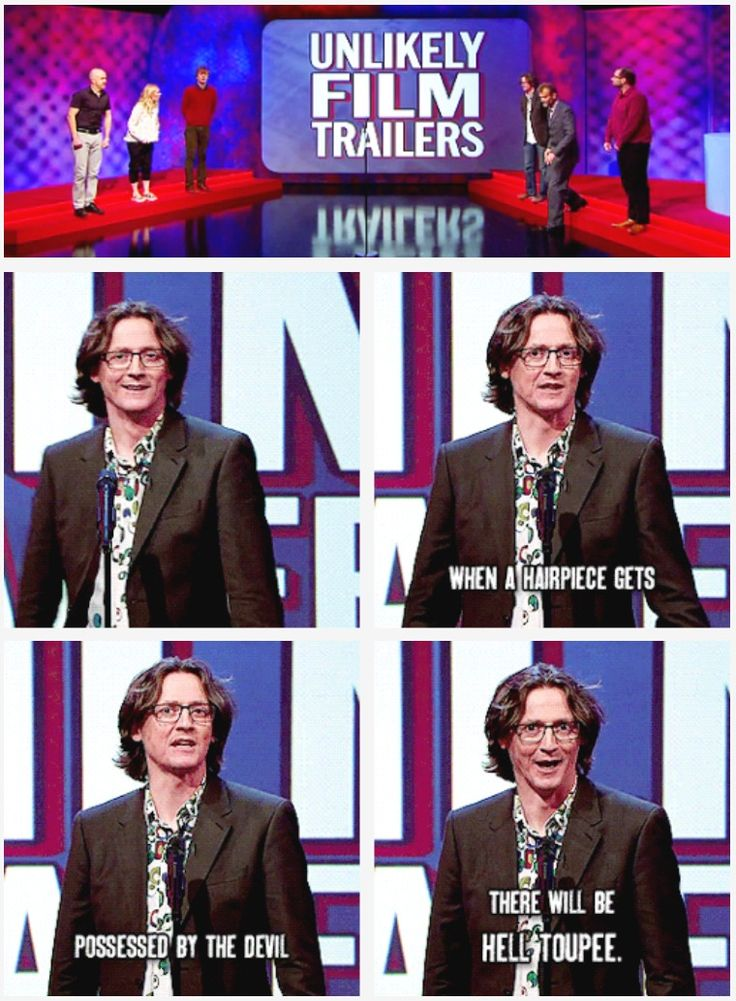Unlikely film trailers | Ed Byrne | Mock the Week  I didn't know they were making a movie about the rlection.