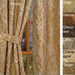 @Overstock - Update your home decor with a luxurious window panel Window treatment designed with a beautiful paisley jacquard Curtain features a rod pocket for easy hanging from a decorative rodhttp://www.overstock.com/Home-Garden/Geneva-Rod-Pocket-120-inch-Curtain-Panel/3319946/product.html?CID=214117 $61.99