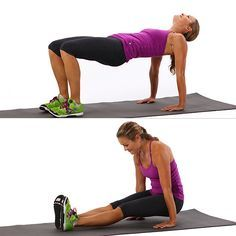 This move truly works you entire body, but the focus is on the abs and triceps. Plus you can do this move anywhere!